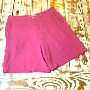 Tommy Bahama Pink 100% Silk Bermuda Shorts Size 14
